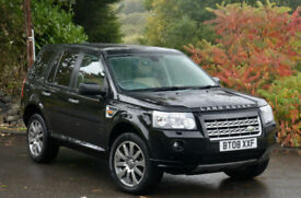 Land Rover Freelander 2 2.2Td4 auto 2008MY HSE Black with Cream leather