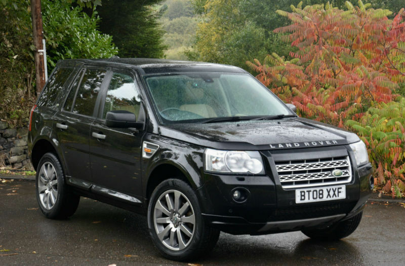 land rover freelander 2 2 2td4 auto 2008my hse black with cream leather in sheffield south. Black Bedroom Furniture Sets. Home Design Ideas