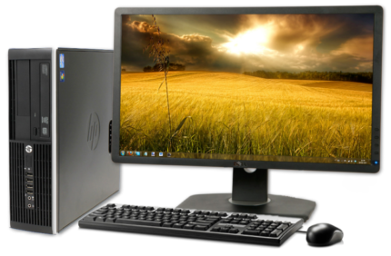 BIG 24 Inch Monitor, FAST i5 CPU, Complete Package $549!