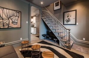 Furnished 2-level 31/2 Apt Downtown Village - C$1325/month