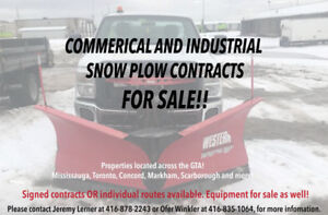 SNOW PLOW CONTRACTS FOR SALE!! COMMERCIAL & INDUSTRIAL