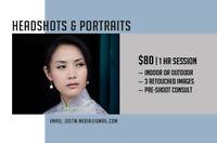 HEADSHOTS & PORTRAITS --- $80