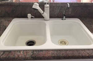White faucet and soap dispenser (not the sink) Windsor Region Ontario image 1