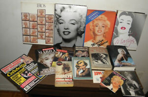 Marilyn Monroe collection.Books, photo albums, magazines.