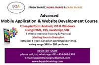 MOBILE APP DEVELOPER COURSE STARTS 14TH OCT - SALARY $40-80/HR