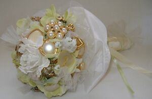 JEWELLED WEDDING BOUQUET, one-of-a-kind - WILL PERSONALIZE Belleville Belleville Area image 1