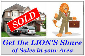 REALTORS . . Get the LION'S Share of Sales in your Area