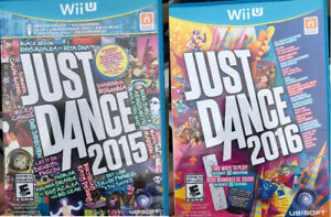 WiiU - Just Dance 2016 $20 & WiiU - Just Dance 2015 $20