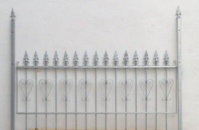 Fence Metal Wrought Iron Fence Emma-Z100/200 Fire Galvanised