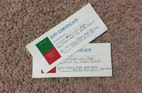 Two gift certificates for wash, cut and style