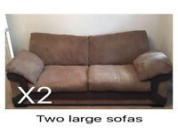 2 large sofas for sale in Gloucester