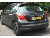 2008 PEUGEOT 207 1.6 HDI 110 SPORT 5 DOOR+12 MONTH MOT+ONLY 55,000 MILES!!