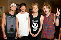CHEAP! BELOW COST!! 5 SECONDS OF SUMMER - 4 In A Row- ROW 1!!!