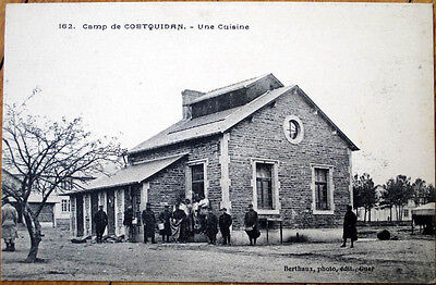 1917 WWI French Military Postcard: Canteen/Kitchen/Cuisine - Camp de Coetquidan