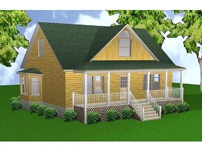 28x36 3-Bedroom 2-1/2 Bath Plans Enclose, Blueprints, Mundane Itemize
