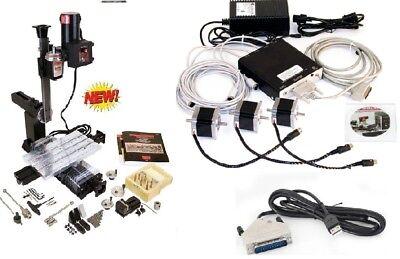 Sherline 5800a-cnc A Package Nexgen Mill Usb Cnc Controller 3 Step Motors.