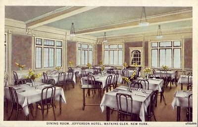 SENECA LAKE WATKINS GLEN, NY JEFFERSON HOTEL DINING ROOM C.M. & H.C. Durland own