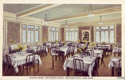 SENECA LAKE WATKINS GLEN, NY JEFFERSON HOTEL DINING ROOM C.M. & H.C. Durland own