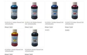 6 bottles with 6 different colors Water-Based Ink 012006