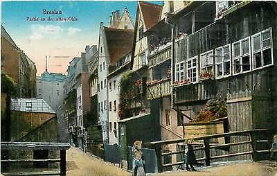 AK Breslau Partie an der alten Ohle 1917 - Ansichtskarte Karte Schlossteich