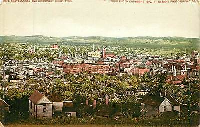 Tennessee, TN, Chattanooga & Missionary Ridge Early Postcard