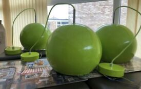 Green globe ceiling lights