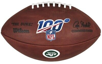 Official 100 Year NFL Leather Game Football by Wilson NY New York Jets Logo Wilson Official Nfl Game Football