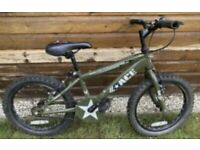 Green kids army bike