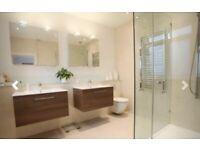 Bathroom sink, tap and vanity unit