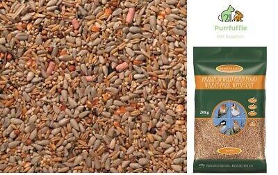 20KG JOHNSTON & JEFF PREMIUM WILD BIRD FOOD Seed Mix Wheat Free With Suet