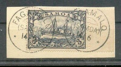 Samoa 18 herrlich auf gest. Luxusbriefstück 170EUR (A7081