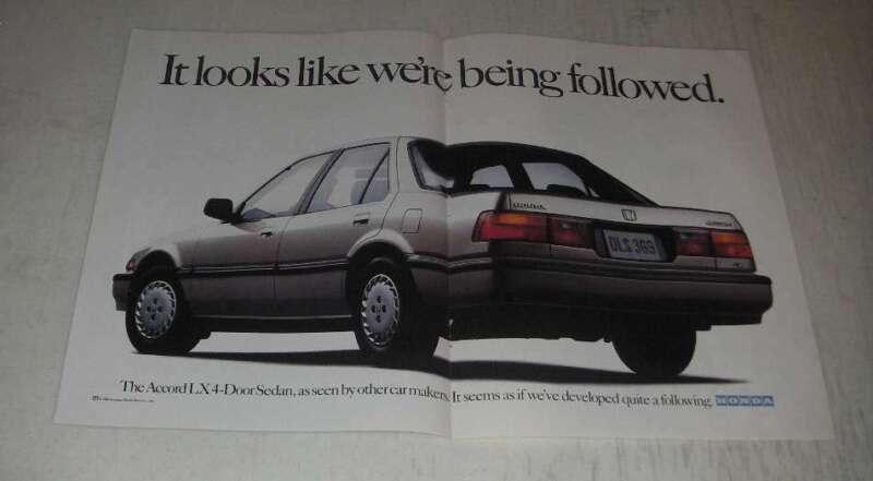 1989 Honda Accord LX 4-Door Sedan Ad - It looks like we
