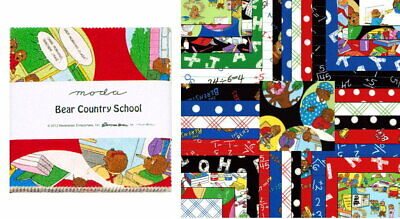 """Bear Country School 5"""" CHARM PACK / Quilt Squares by Berenstain Bears for Moda"""
