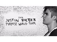 2x Justin Bieber Tickets - 11th October 2016 - London o2 Arena - Block 401 - Row M