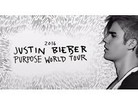 2 x Justin Bieber Tickets - 11th October 2016 - o2 Arena - London - Block 401, Row M - £80 each