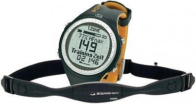 Sigma PC 25.10 Pulsuhr Grau Gelb Uhr Sportuhr Herzfrequenzmesser mit Brustgurt
