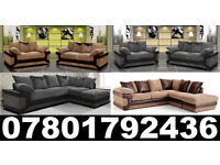 DINO CORNER/3+2 SOFA BLACK/GREY OR BROWN /BEIGE LEFT OR RIGHT CORNE 195