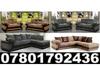 DINO CORNER/3+2 SOFA BLACK/GREY OR BROWN /BEIGE LEFT OR RIGHT CORNE 2