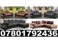 DINO CORNER/3+2 SOFA BLACK/GREY OR BROWN /BEIGE LEFT OR RIGHT CORNE 328