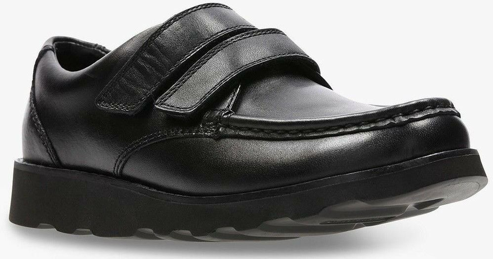 dbe7d7f25b60 NEW IN BOX  Size 8.5G Clarks Crown Tate black leather boys school shoes   8  and a half G (wide fit)