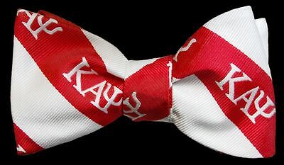 Kappa Alpha Psi Red and White Self Tie Bow-Tie and Handkerchief