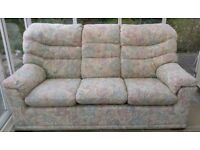 3 seater sofa and matching arm chair in very good condition
