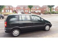 VAUXHALL ZAFIRA 7 SEATER 2002 TAX AND MOT