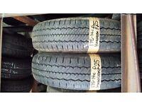2X 175-14C Hankook Ra08 99/98Q 7mm Part Worn Tyres