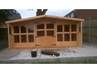 SHEDS SUMMER HOUSES BESPOKE MADE TO YOUR SIZE AND SPEC FREE INSTALL AND NATIONWIDE DELIVERY