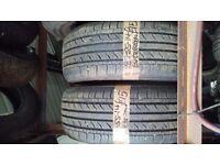 2x 185-55-14 Evergreen Eh23 80V 7mm Part Worn Tyre