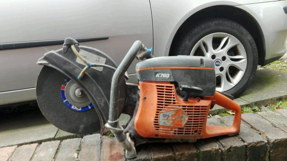 """HUSQVARNA K760 12"""" PETROL CUT OFF SAW CUTTER GRINDER STIHL OILin Kidsgrove, StaffordshireGumtree - Up for sale here weve got a husqvarna K760 12"""" petrol cut off sawStars and runs spot on, no faultsAlways been used on stihl oilJust had loads of new bits fitted including Nicasil lined cylinder and piston New shut down wires New air filters New NGK..."""