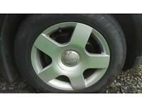"""Audi 16"""" wheels with tyres"""