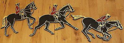 Vintage 1966 Invicta Plastic Equestrian Horse Show Jumper Wall Hanging Plaques