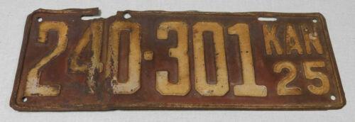 1925 Kansas passenger car license plate